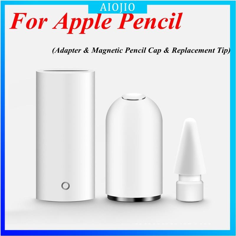 อะแดปเตอร์ & ดินสอแม่เหล็ก cap & tip 3 in 1 สําหรับ Apple Pencil 1st