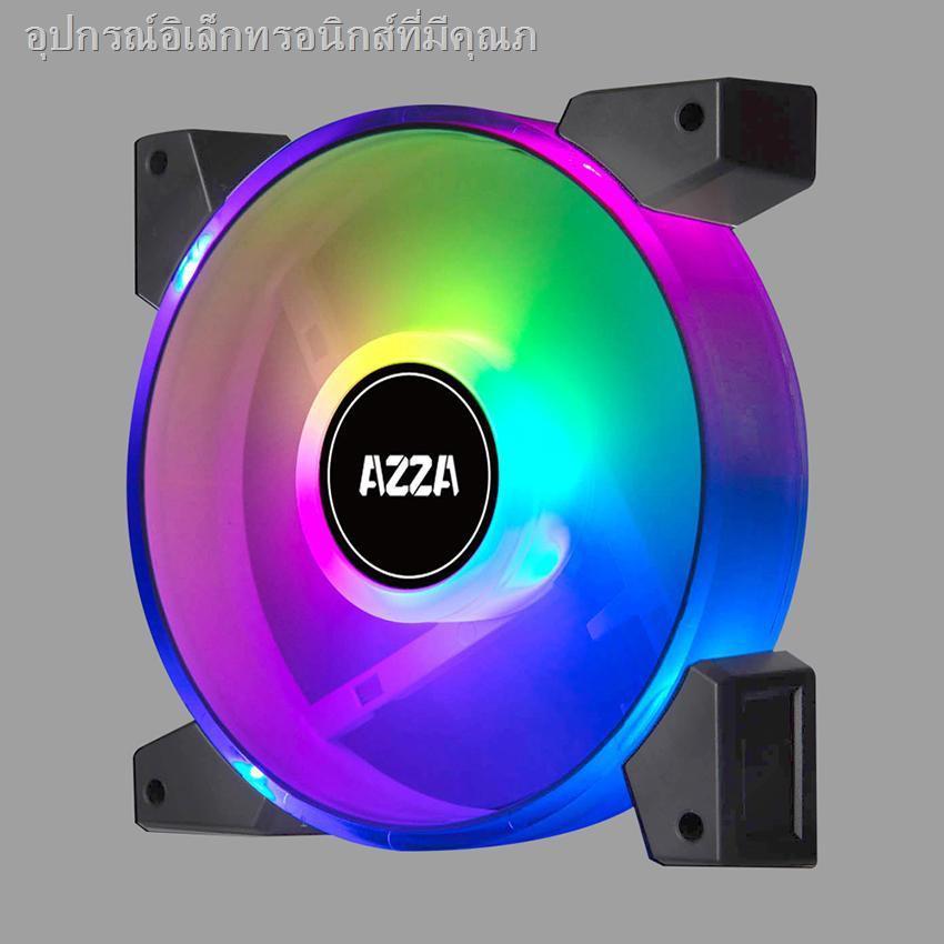PC Fan Case PC ✠✕AZZA PWM Fan Case 120mm. HURICANE II Dual Ring Digital RGB - Black