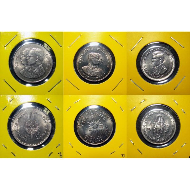 เหรียญ 5 บาท ปี 2525 + เหรียญ 1 บาท เอเชี่ยนเกมส์ 2509 + เหรียญ 1 บาท รัชกาลที่ 10 ปี 2521 [c2]