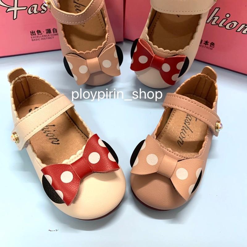 รองเท้าคัชชูเด็ก รองเท้าแฟชั่นเด็กผู้หญิง รองเท้ามิกกี้เม้า❤️ใช้โค้ดส่งฟรีได้ #คัชชูมิกกี้เม้าหนังเเท้
