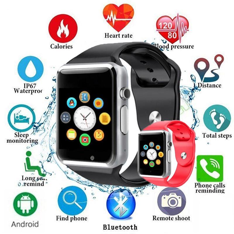 นาฬิกา นาฬิกาข้อมืออัจฉริยะ รุ่น SmartWatch A1 Import Touch Screen + GSM