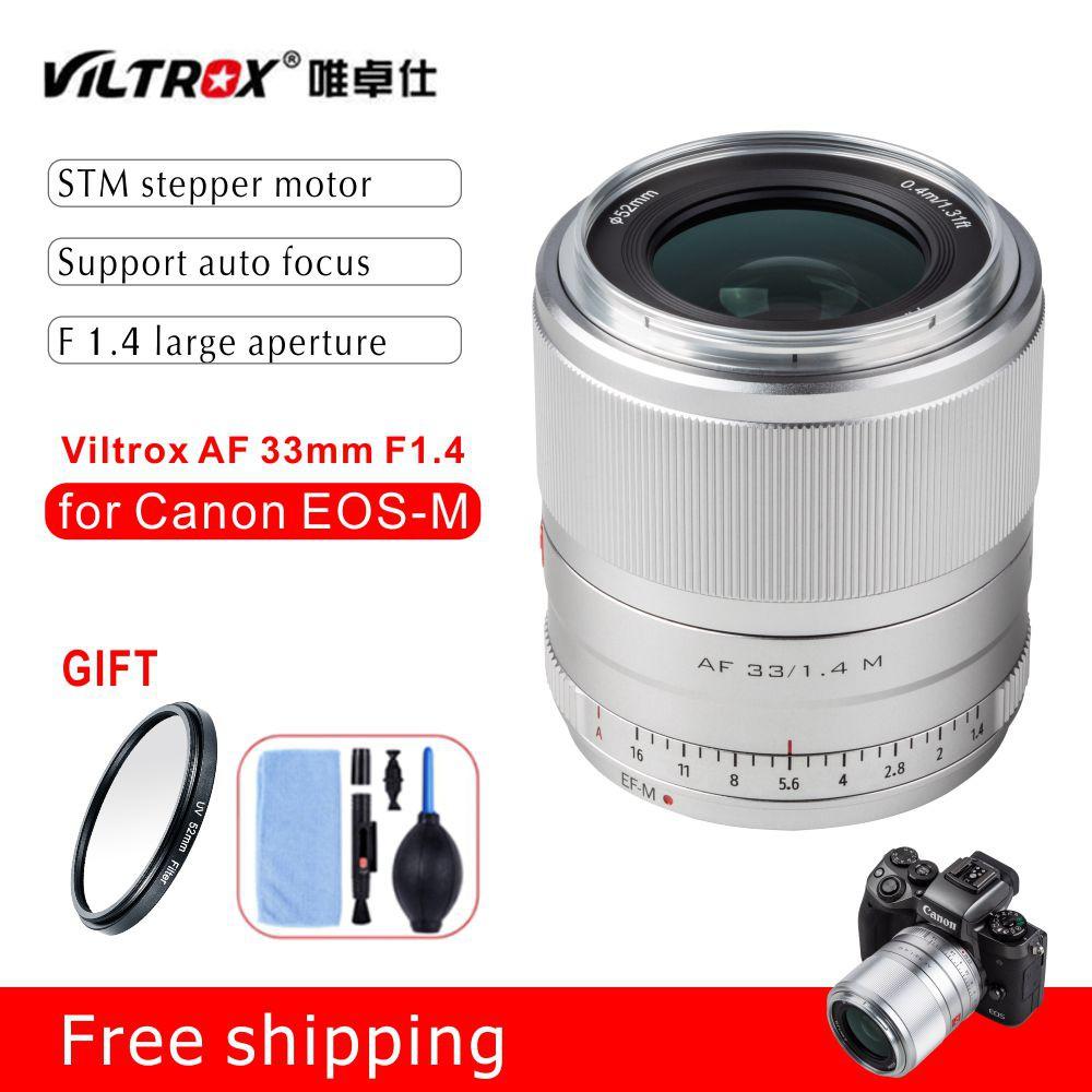 Viltrox 33mm f1.4 STM Auto Focus APS-C Prime Lens สำหรับกล้อง Canon EOS-M Cameras M10 M50 M100 M5 M6 MarkII