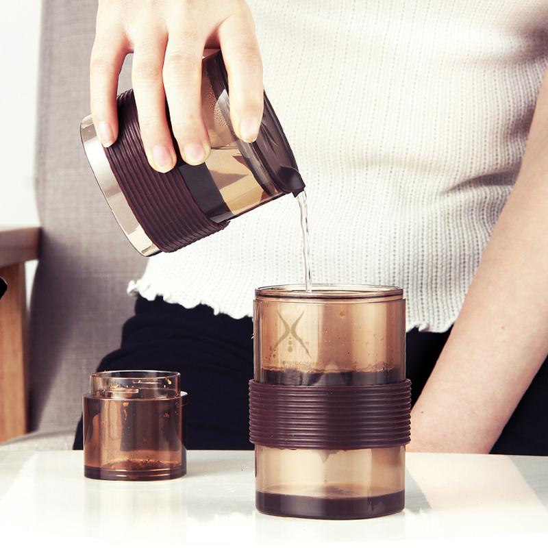 グ≦หม้อต้มกาแฟเครื่องชงกาแฟมือFar Shore เครื่องชงกาแฟทำมือชุดมินิแบบพกพา Follicle กรองถ้วยกรองสลิมคอหม้อถ้วยกาแฟแบบพกพา