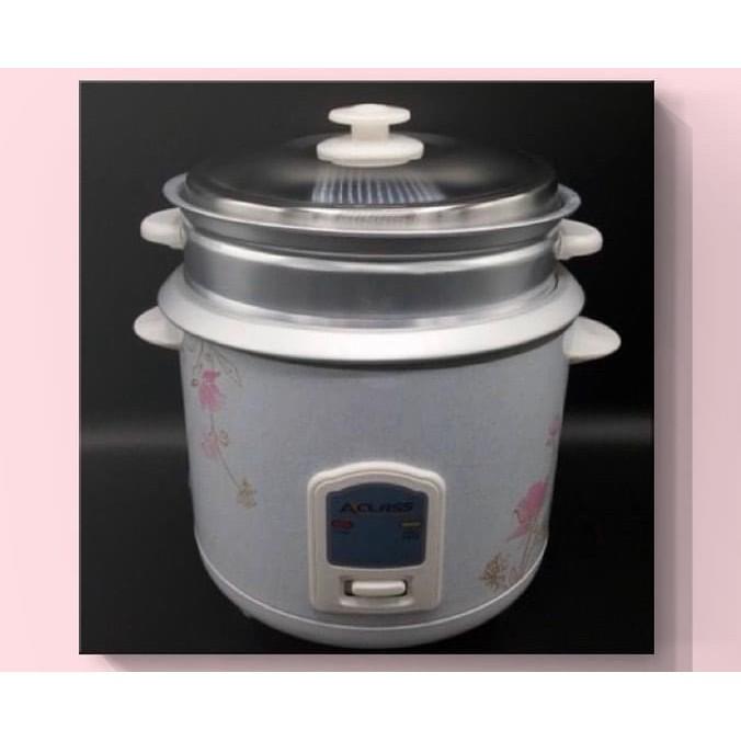 ACLASS หม้อหุงข้าว 1.8 ลิตร รุ่น RC-1803/RC-704 พร้อมซึงนึ่งอาหาร คละสี