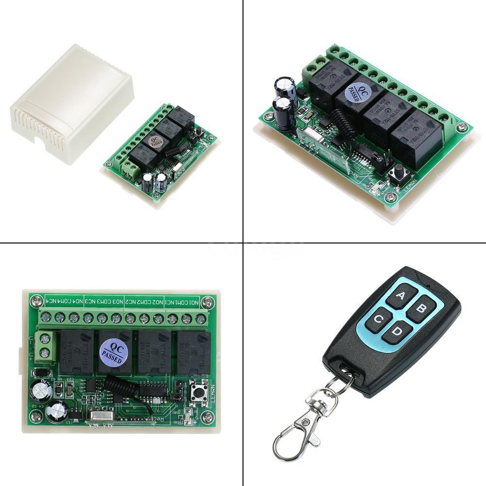 433MHz AC 85-250V Channel Wireless RF Relay Remote Control Switch Receiver