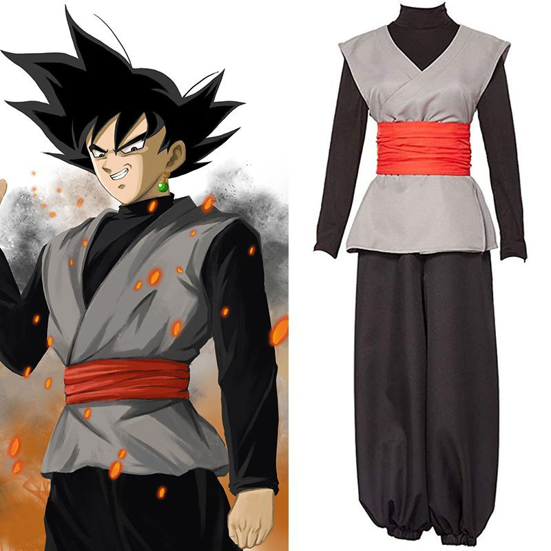 Dragon Ball Z Super Saiyan Son Goku Black Zamasu Cosplay Costume Outfit Kimono #Anime