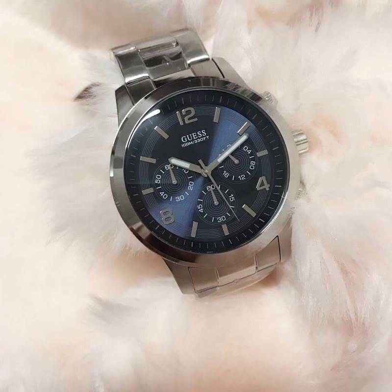 นาฬิกาข้อมือผู้ชาย แบรนด์ Guess 40 mm สีเงิน