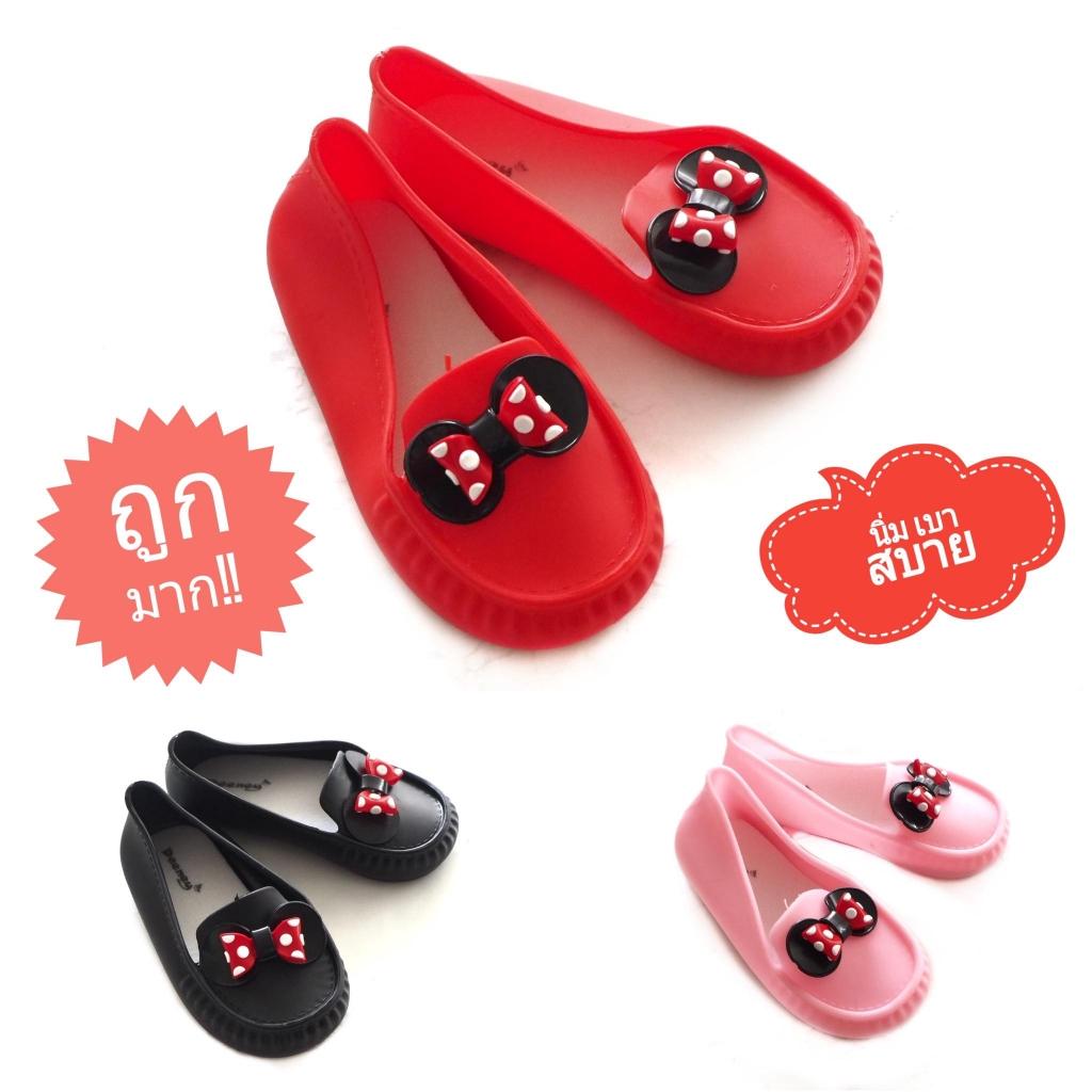 Sustainable รองเท้าเด็กผู้หญิงโบว์ลายจุด รองเท้าเด็กผู้หญิงโบว์แดง รองเท้าผูกโบว์เด็ก คัชชูเด็ก รองเท้าคัชชูเด็ก รองเท้า