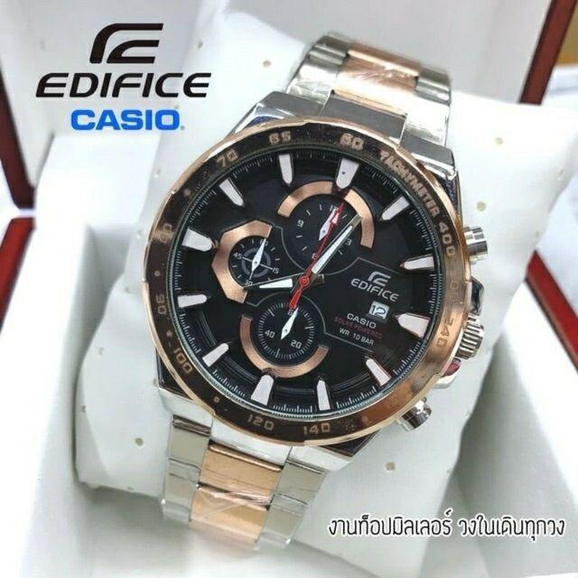 Casio Edificeนาฬิกาผู้ชายสายสแตนเลส นาฬิกาคาสิโอ พร้อมกล่อง เข็มวงในใช้งานได้ ✨หน้าปัด45mm 👉มีชำระเงินปลายทาง