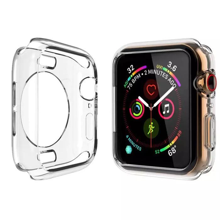 เคสนาฬิกาข้อมือซิลิโคนสําหรับ Apple Watch Case 40mm. 44mm. 42mm. 38mm Iwatch