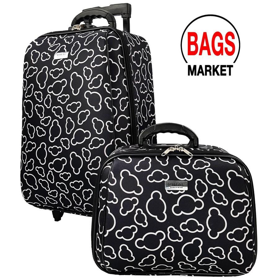 กระเป๋าเดินทางล้อลาก Luggage Wheal เซ็ทคู่ 20/14 นิ้ว Code FBL7720-1 Micky Mouse (Bla กระเป๋าล้อลาก กระเป๋าเดินทางล้อลาก