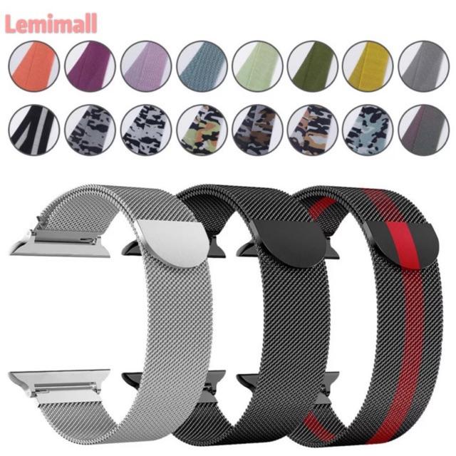 สายนาฬิกาข้อมือ AppleWatch 42 มม. 38 มม. 40 มม. 44 มม. series 6 5 4 3 2 1 สายsmart watch Fp5/p90proสาย AppleWatch