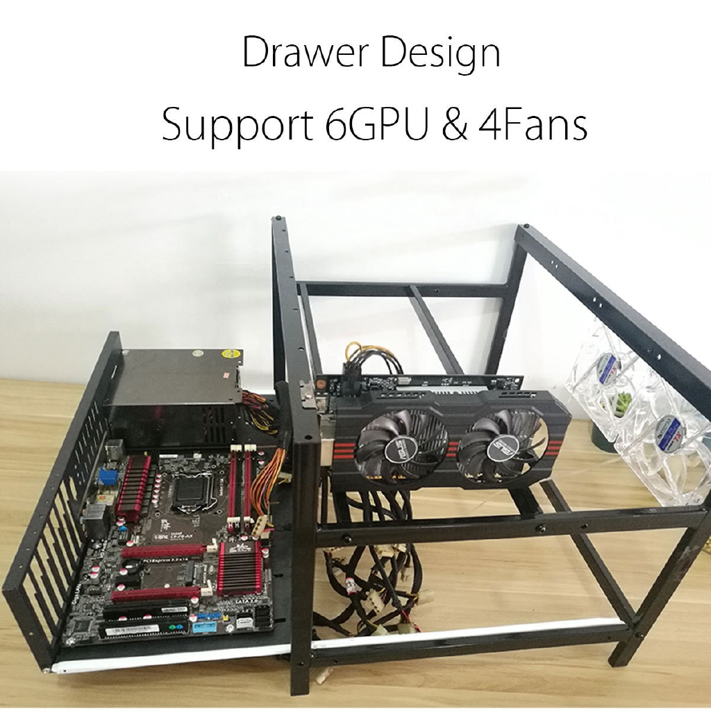 Cheapest Price Drawer Open Air Mining Miner Rig Frame Case 6