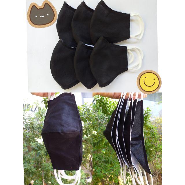 ผ้าปิดปาก ผ้าปิดจมูก แมสสีดำ หน้ากากผ้ามัสลิน nano Technology