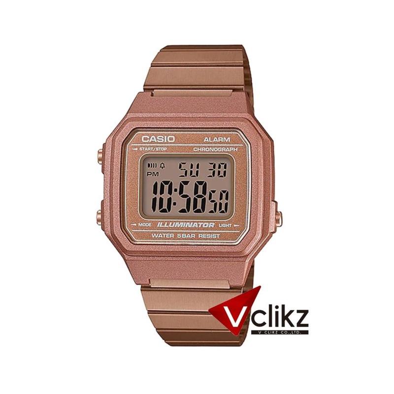 จัดส่งฟรีCasio Digital นาฬิกาข้อมือดิจิตอล สายสแตนเลส กันน้ำ 50 เมตร รุ่น B650 - vclikz ของแท้ รับประกัน 1 ปี