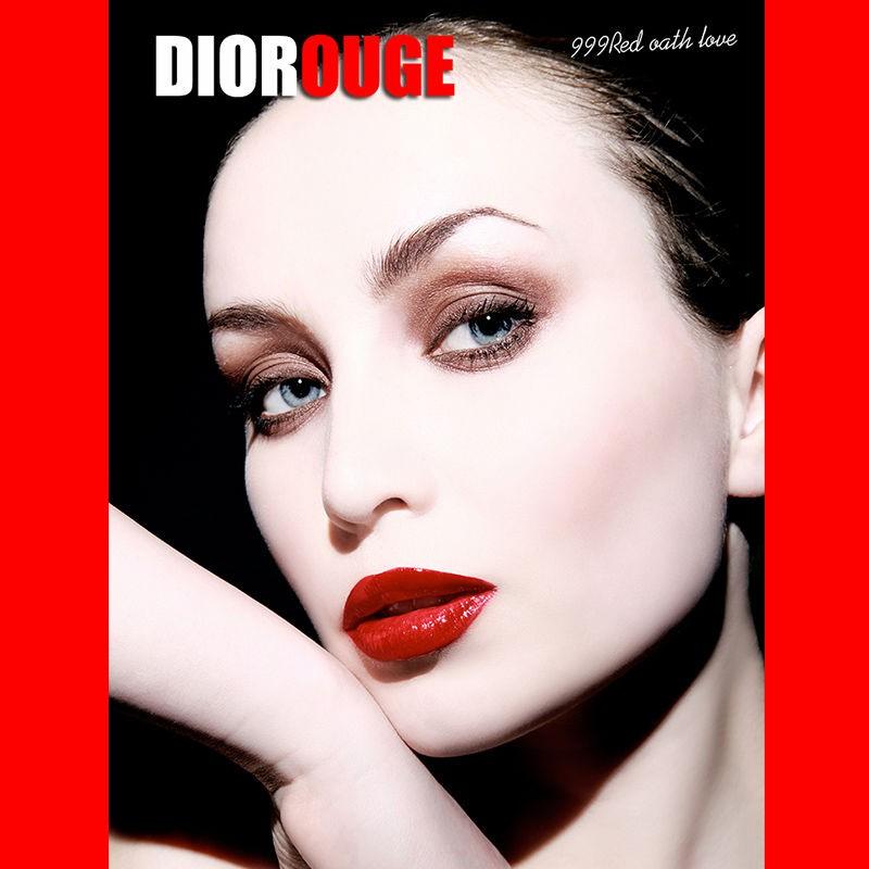 ☞✓Dior lipstick moisturizing 999 matte 888 strong bright blue gold 567 positive Red 772 นำเข้าของแท้