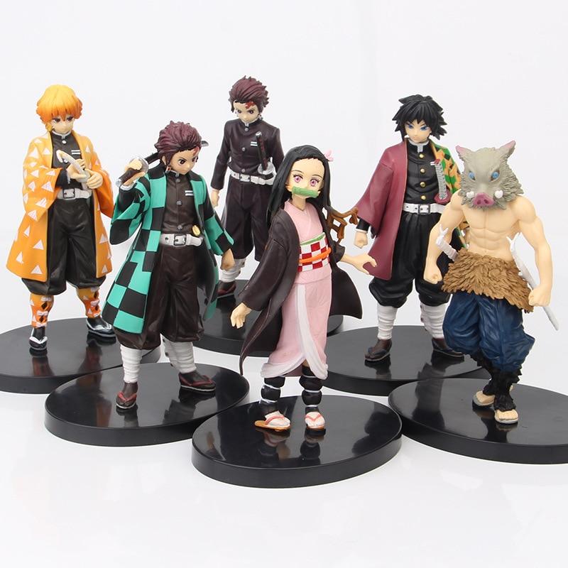 Anime Kimetsu No Yaiba Action Figure Demon Slayer Figure Kamado Tanjirou Nezuko PVC Model Toys Cartoon Collectible Toys