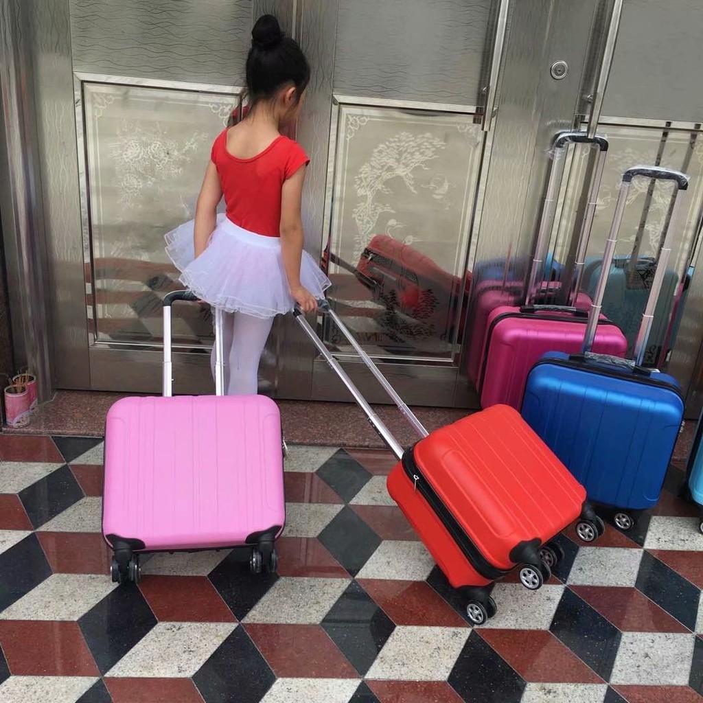 ┅♤กระเป๋าเดินทางเด็กแฟชั่นกระเป๋าเดินทาง 14 นิ้วกระเป๋าเดินทางหญิง 16 นิ้วกระเป๋าเดินทางขนาดเล็ก 18 นิ้วล้อสากล