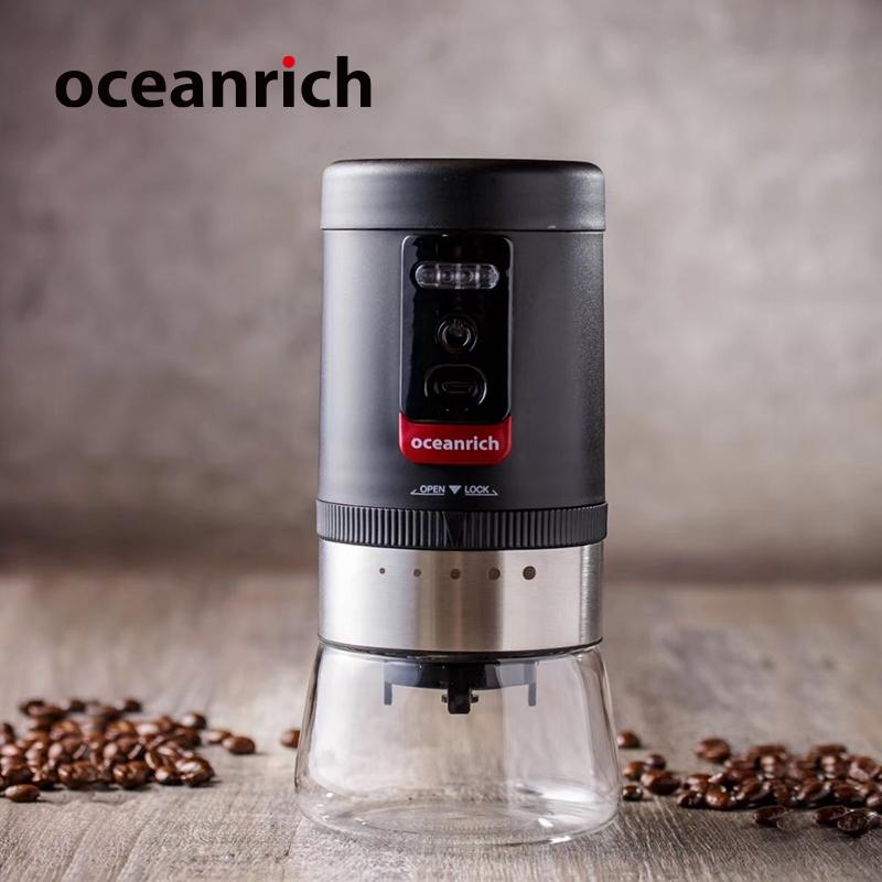 Oceanrich Ou Xinliqi เครื่องบดกาแฟผงทำมือมินิแบบพกพาเครื่องบดเมล็ดกาแฟไฟฟ้า USB