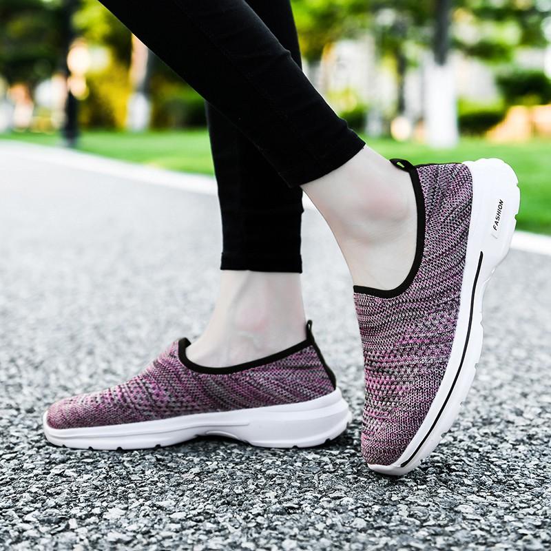 skechers go walk รองเท้า เพื่อสุขภาพ รองเท้าคัชชู ผู้หญิง รองเท้า ไซส์ใหญ่ Women casual slip-ons