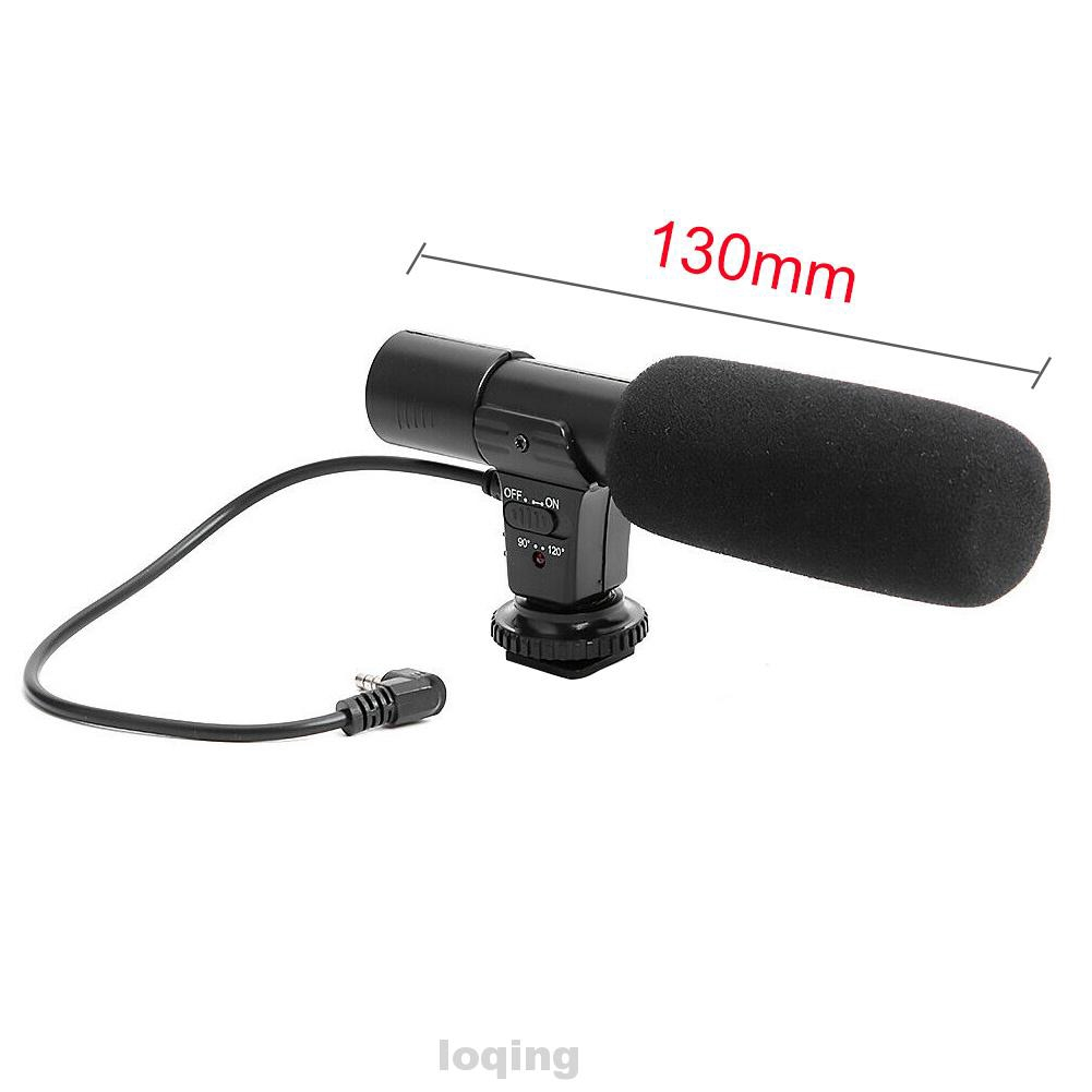 DV Mobile Phone gazechimp 3.5mm Stereo Video Recording Microphone for D-SLR Camera
