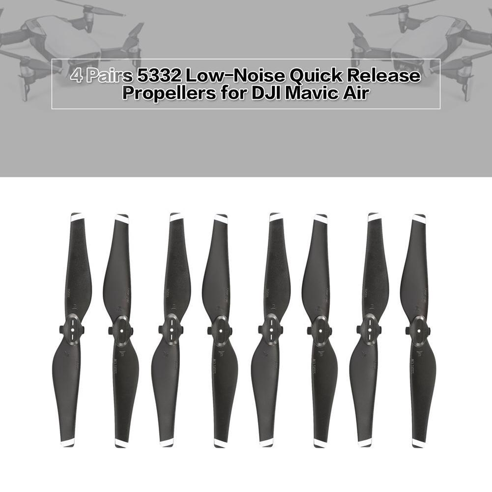 4 Pairs// 5332 Propellers for DJI Mavic Air Low-Noise Quick Release CW CCW