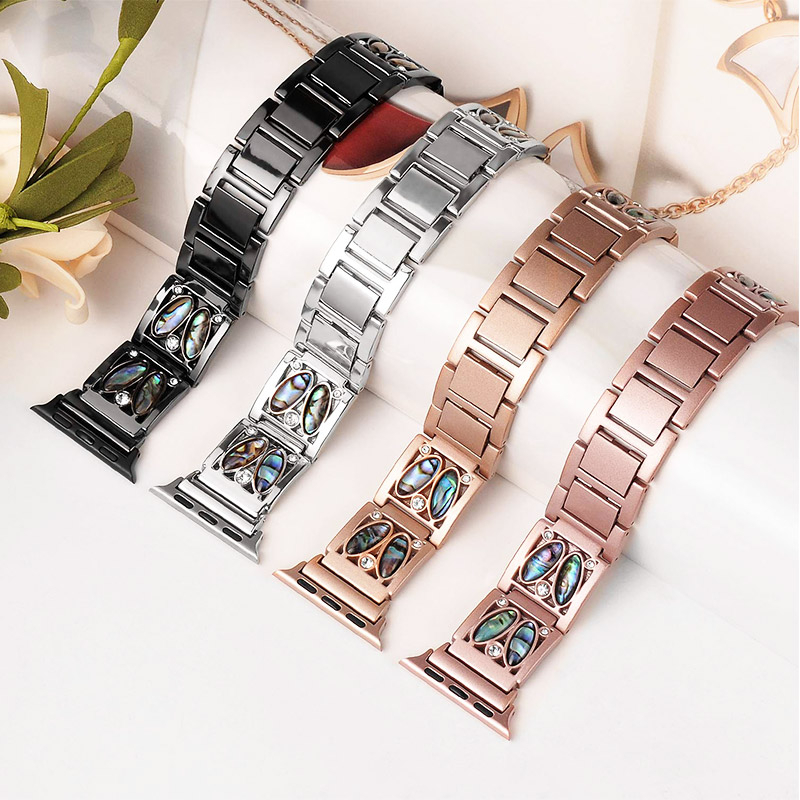 Jewelry Stainless Steel Strap Apple Watch 42mm 44mm 40mm 38mm Series 5 4 3 2 1 iWatch Diamond Strap