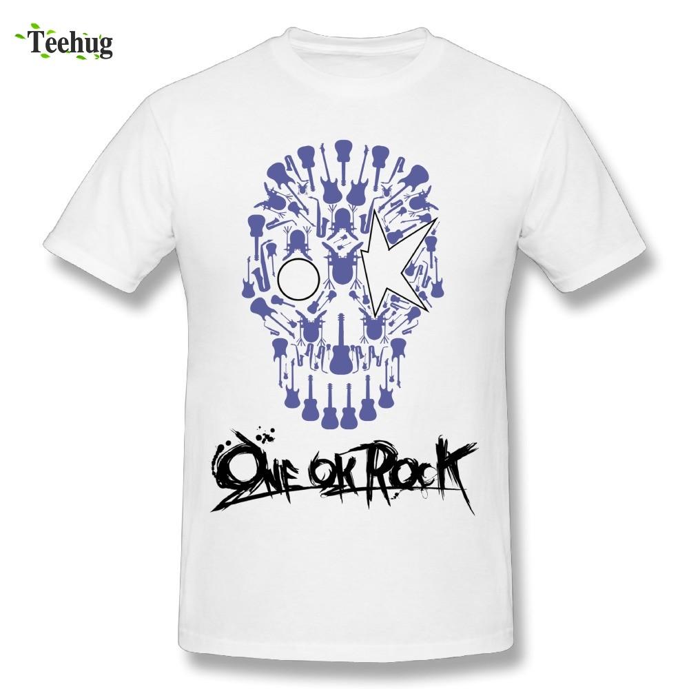 เสื้อเสื้อยืดผ้าฝ้ายพิมพ์ลาย One Ok Rock
