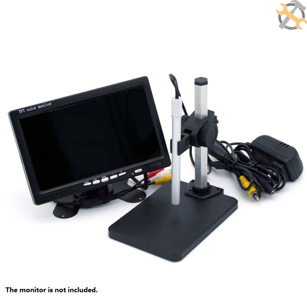 Industrial Inspection 2 Megapixel Electronic Magnifying Glass Digital Microscope USB Connection Computer Measuring Camera Color : Black 25-600 X