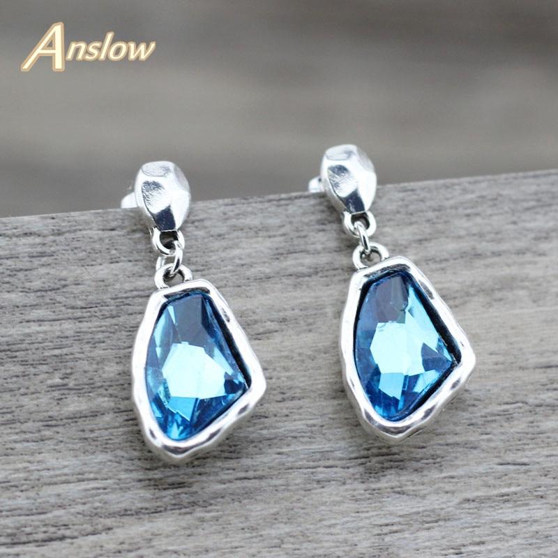 Anslow Fashion Jewelry Retro Charms Women Female Dro Irregular Crystal Earrings Original Design Earring For Wedding Low0 ลดเหล อ 223