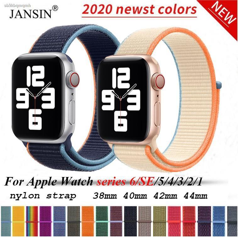 ☇❈สายนาฬิกา สาย applewatch for Apple Watch 6 se 5 Band Woven Nylon Loop iwatch Series 4 3 2 1 40 มม. 44 มม 42 38