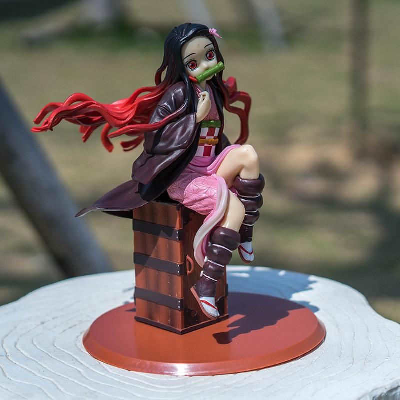 Wjqop Demon Slayer Figure Duttle Bean Model Ornaments Two Dimensions