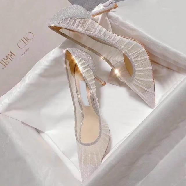 P.2020 รองเท้าคัชชูหัวแหลม รองเท้าแต่งงาน รองเท้าส้นเข็ม รองเท้าเจ้าสาว