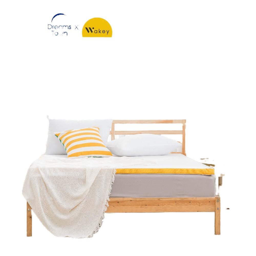 ♧Wakey ที่รองนอน ท็อปเปอร์เมมโมรี่โฟม เพิ่มความนุ่มของที่นอนให้ดีขึ้น Topper หนา 4 ซม 3ฟุต 3.5ฟุต 5ฟุต 6ฟุต