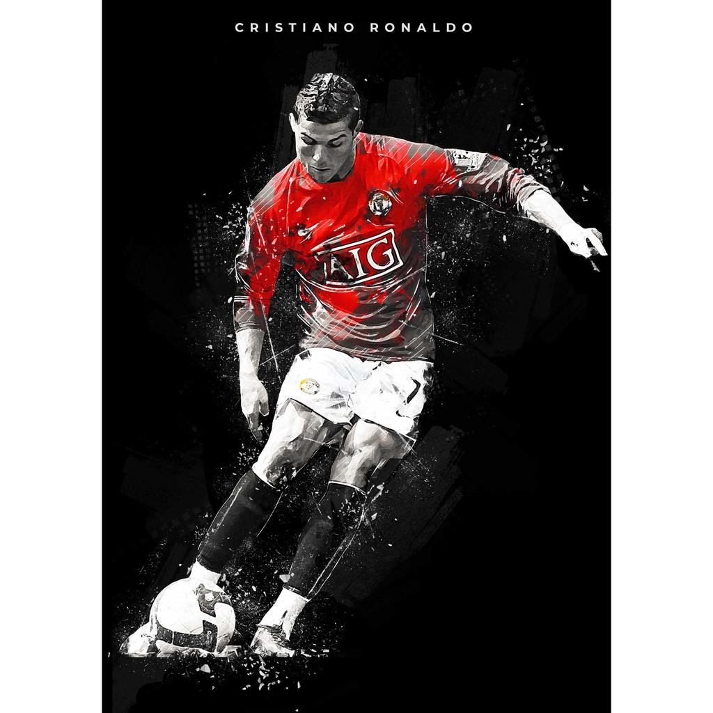 โปสเตอร์ Cristiano Ronaldo คริสเตียโน โรนัลโด Poster Manchester United MUFC  Manu แมนเชสเตอร์ยูไนเต็ด แมนยู ฟุตบอล