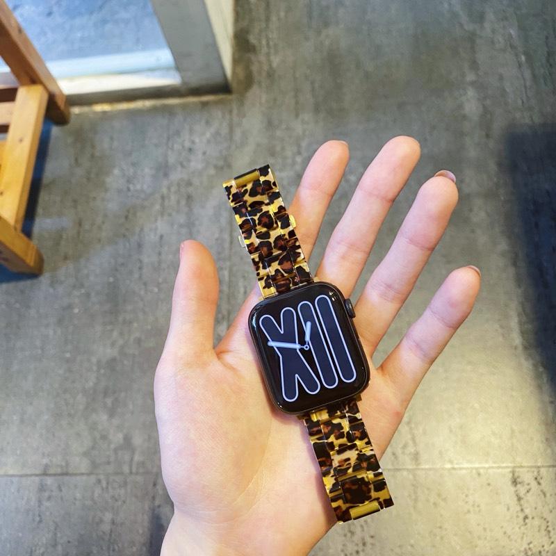 เหมาะสมapplewatchนาฬิกา Appleiwatchสายเรซิ่น123456หัวเข็มขัดเซรามิกสามเม็ด