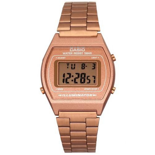 Casio Standard Digital รุ่น B640WC-5ADF นาฬิกาข้อมือผู้หญิง สายสแตนเลส - มั่นใจ สินค้าของแท้ 100% ประกันศูนย์ 1 ปีเต็ม C
