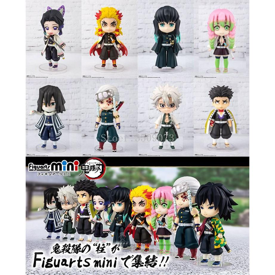 อะนิเมะ รูปอะนิเมะ 9pcs/set Demon Slayer Anime Figure Rengoku Kyoujurou Kochou Shinobu PVC Action Figure Toys Kimetsu no