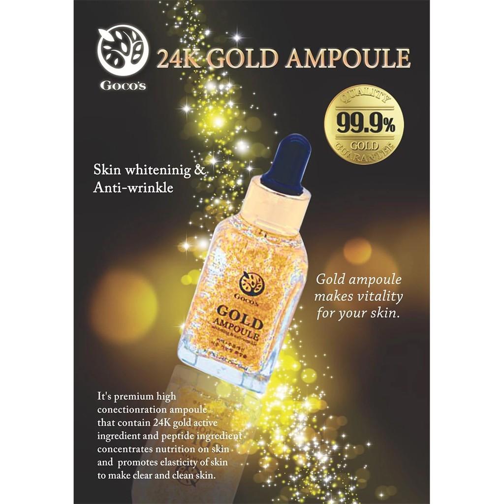 ผลการค้นหารูปภาพสำหรับ Gocos Gold Ampoule Brightening & Anti-Wrinkle