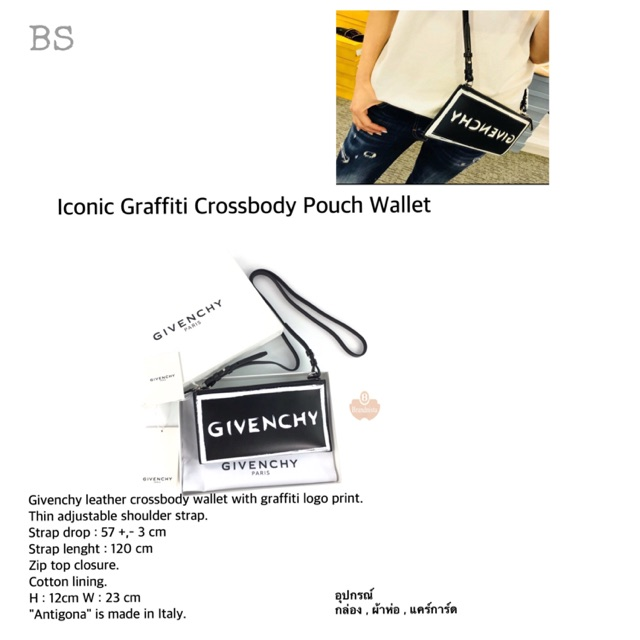 81791b09bb ☆ NeW ☆ GV Iconic Leather Graffiti Crossbody Pouch Wallet