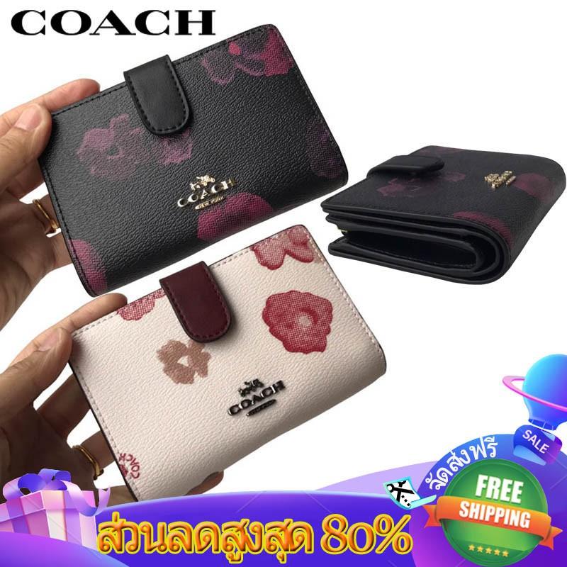 COACH กระเป๋าสตางค์ผู้หญิง🔥🔥🔥กระเป๋าสตางค์แบบพับได้ กระเป๋าสตางค์ใบสั้น รุ่น39127# กระเป๋าสตางค์