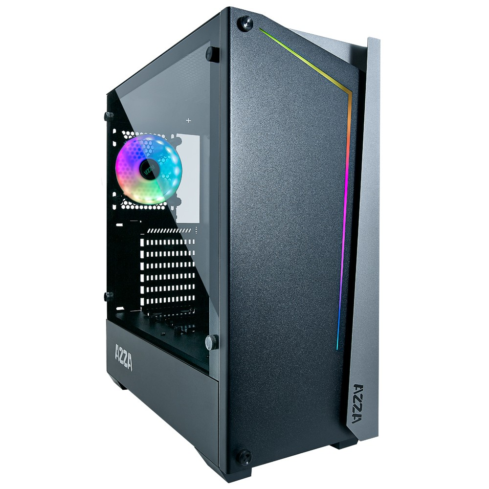 Case APOLLO 430 Black AZZA + Digital RGB Lighting