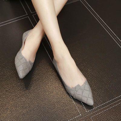 ❤️รองเท้าคัชชูผู้หญิงพื้นยางนิ่ม รองเท้าส้นแบนหัวแหลมรองเท้าทำงานรองเท้าลำลอง