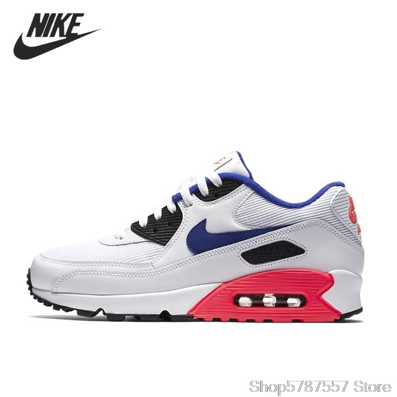 NIKE AIR MAX 90 ESSENTIAL Breathable Running Shoes For Men Sneakers Trainers 537384-136  Airmax 90 Men Original