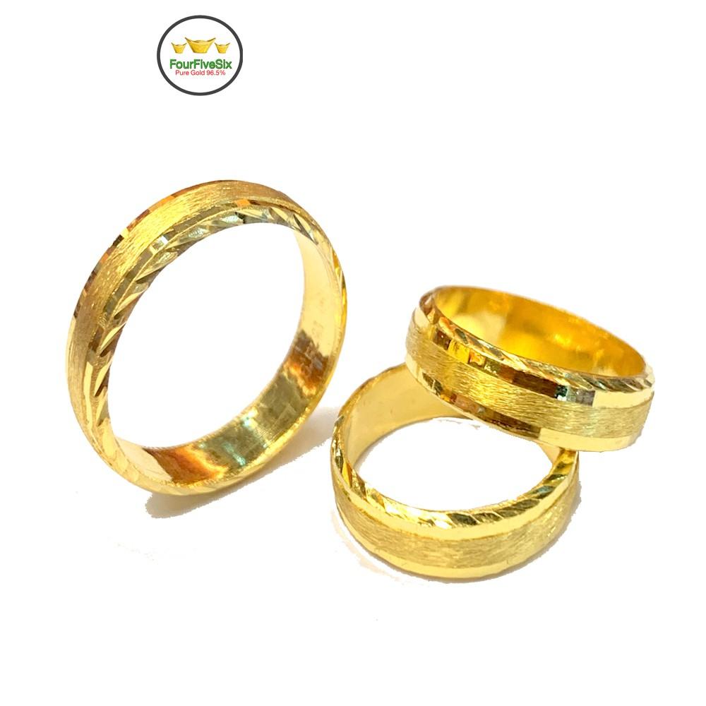FFS แหวนทองครึ่งสลึง สายรุ้ง หนัก 1.9 กรัม ทองคำแท้96.5%