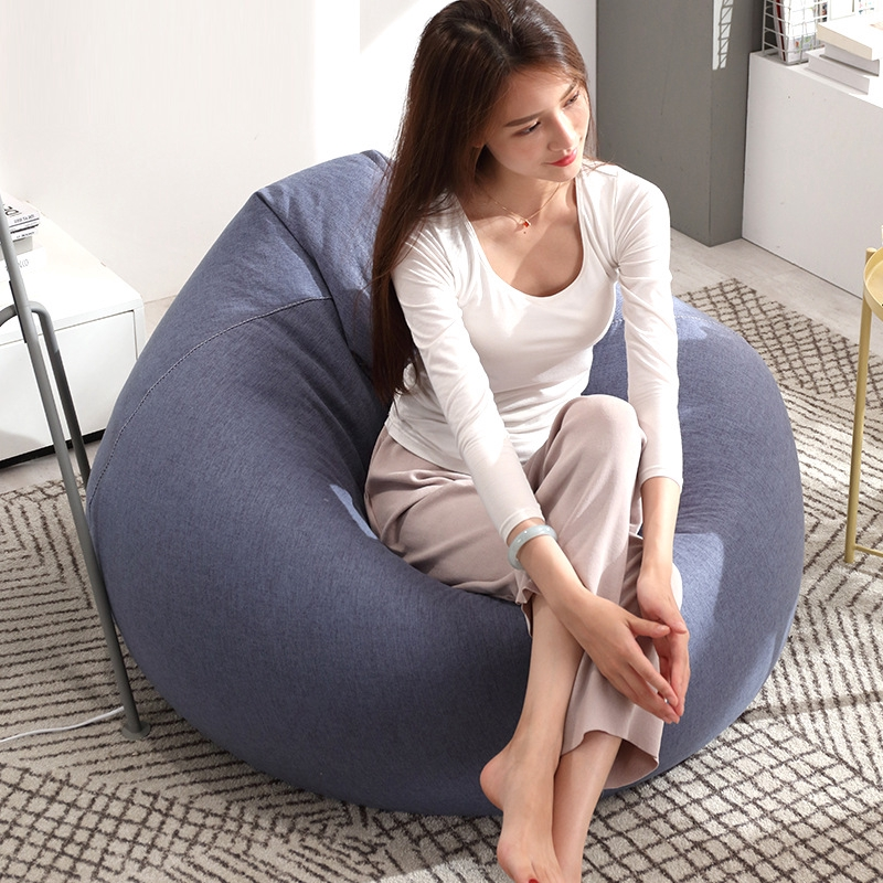 Large Indoor Lounge Living Room Dorm Beanbag Lounger Chair Cover 13 Colors