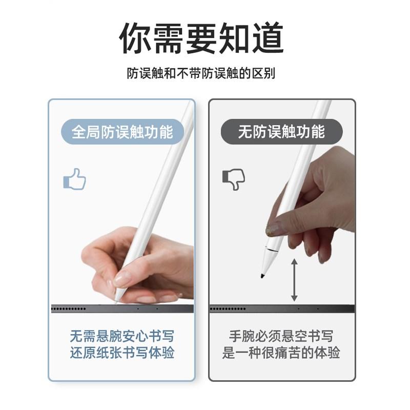 applepencilปากกา capacitiveipadปากกาสัมผัสอิเล็กทรอนิกส์2แปรงหัวปรับลายมือรุ่นป้องกันข้อผิดพลาดแบนวาดด้วยมือ