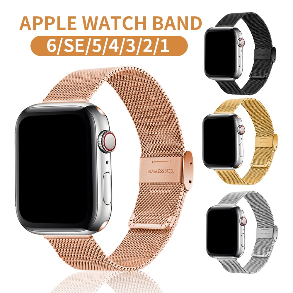 Milanese Loop Bracelet Correa for Apple Watch Series 6 SE 5 Band 44mm 42mm Watch Strap for Iwatch 4 3 2 1 38mm 40mm Acce