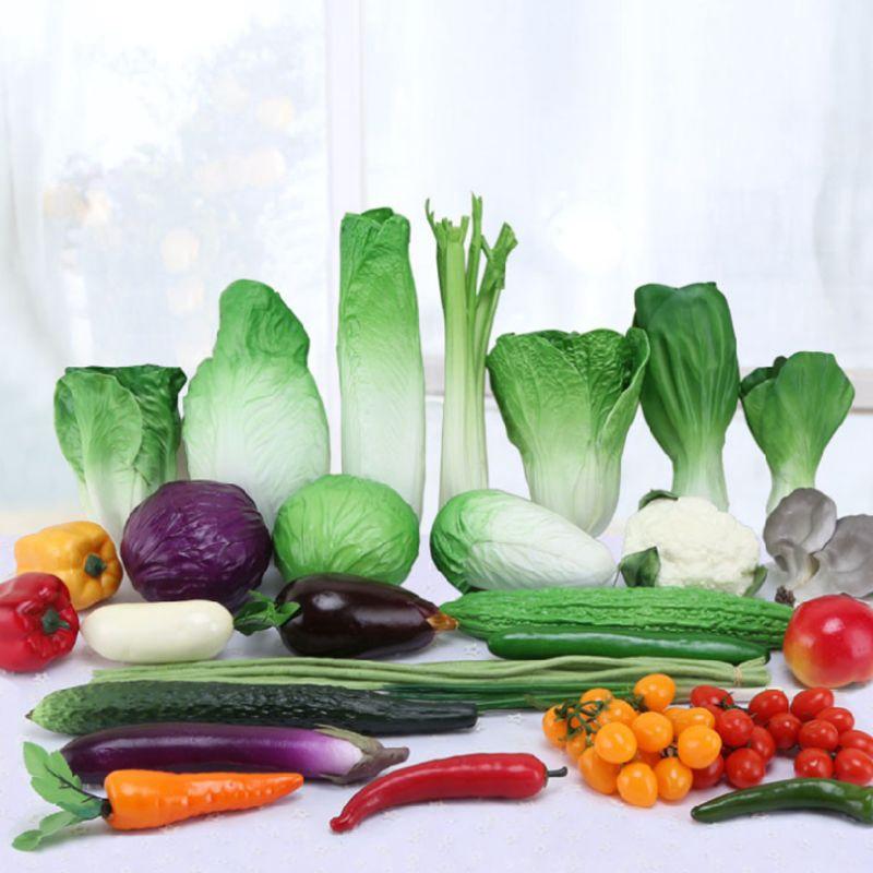 Realistic Lifelike Artificial Kitchen Vegetables Fake Display Food Wedding Decor