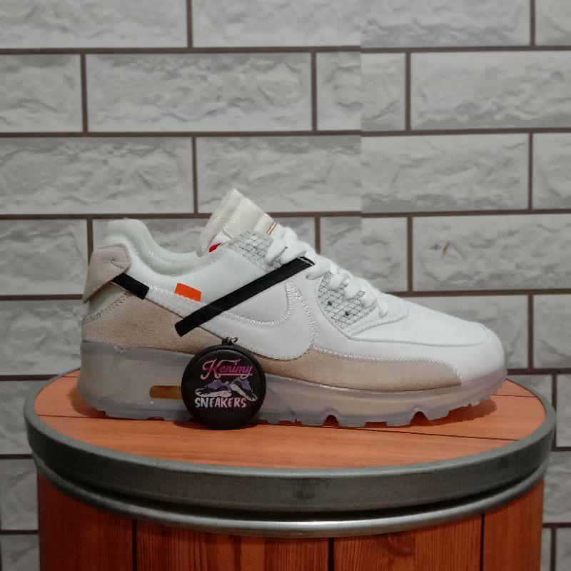 รองเท้าผ้าใบ Nike Airmax90 Xoff สีขาว